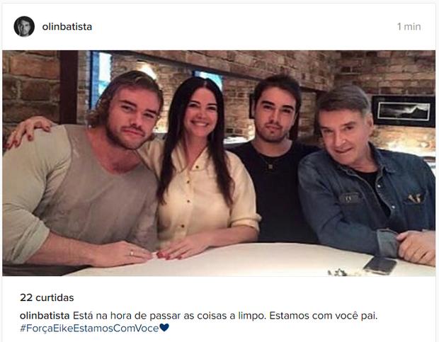 Olin Bastista em post no Instagram (Foto: Reprodução/Instagram)
