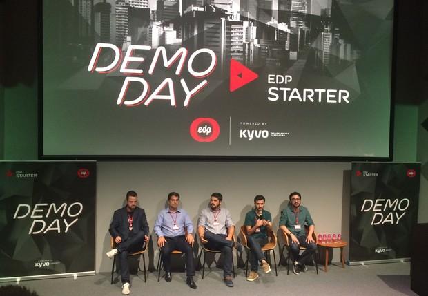 CEO das empresas durante o DemoDay EDP Starter Brasil (Foto: Karina Campos)