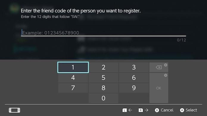 Nintendo Switch: digite o Friend Code desejado em Search with Friend Code (Foto: Reprodução/Victor Teixeira)