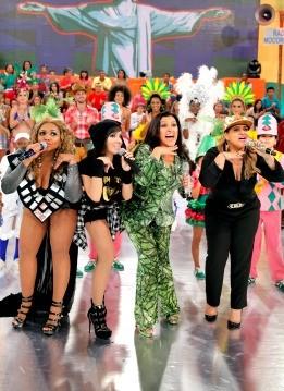 Gaby Amarantos no Esquenta  (Foto: TV Globo/João Januário )