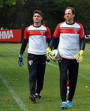 Ceni goleiros São Paulo (Foto: site oficial / saopaulofc.net)