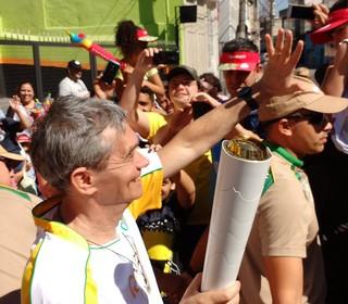 Serginho Groisman Tour da Tocha Mogi das Cruzes (Foto: Cairo Oliveira)