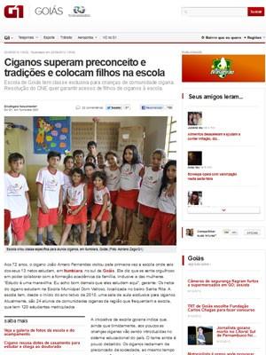 Reportagem do G1 Goiás ganhou Prêmio Feac de Jornalismo na categoria on-line (Foto: Reprodução)