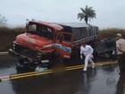 Duas pessoas morrem em acidente entre carro e caminhão na BR-146