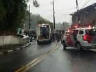 Motociclista fica ferido após se chocar com ônibus em morro de Santos