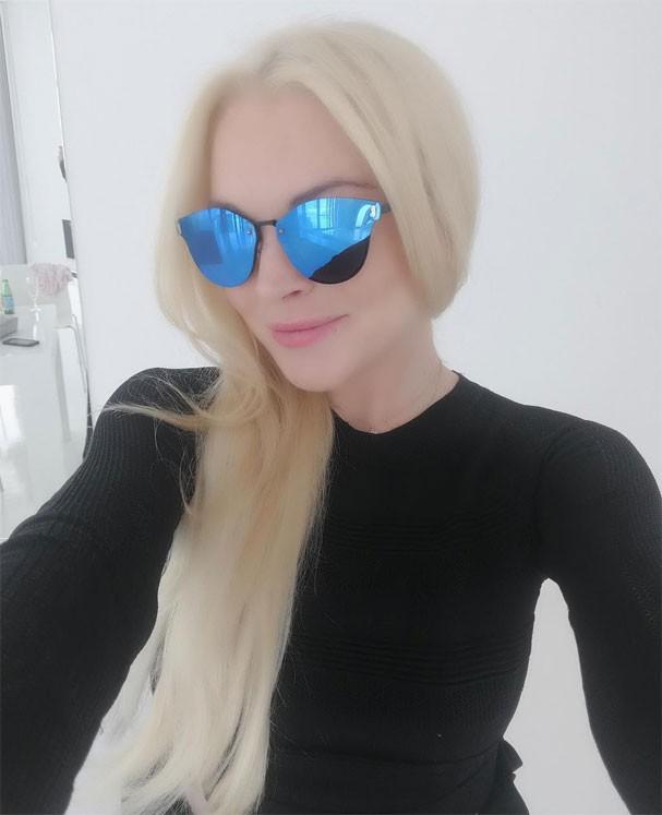 Lindsay Lohan superloira (Foto: Reprodução)