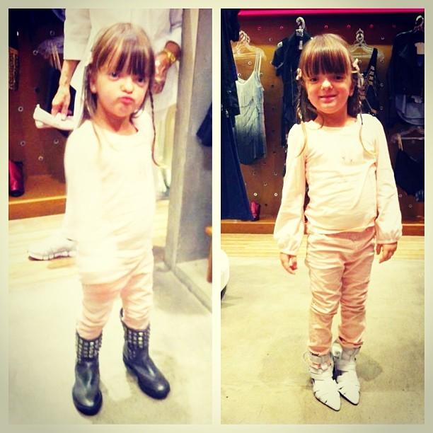 Rafa Justus experimenta sapatos  (Foto: Instagram/Reprodução)