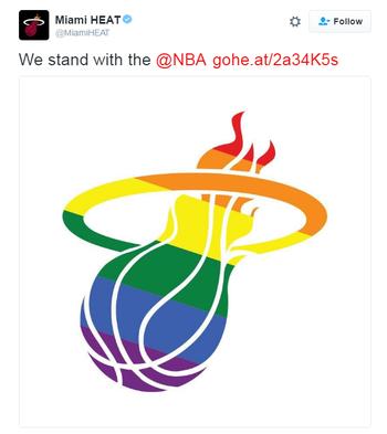 Miami Heat logo LGBT (Foto: Reprodução / Twitter)