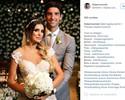 Com temporada encerrada, Thomaz Bellucci se casa com jornalista em SP