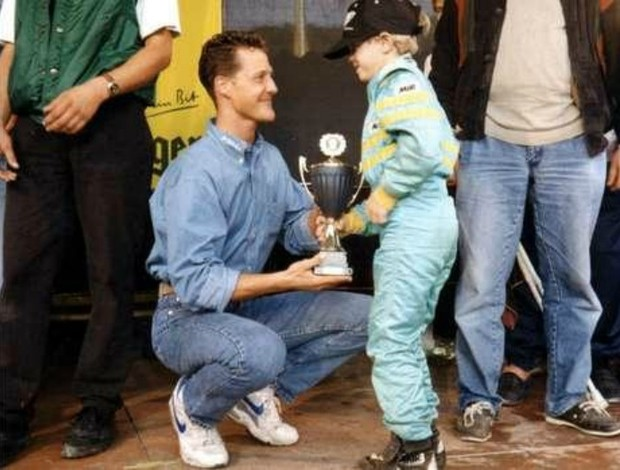 Michael Schumacher Sebastian Vettel Frmula 1 (Foto: Reproduo)