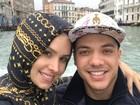 Wesley Safadão curte passeio romântico com a mulher na Itália