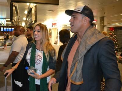 Vitor Belfort e Joana Prado em Las Vegas para o UFC 168 (Foto: Adriano Albuquerque)