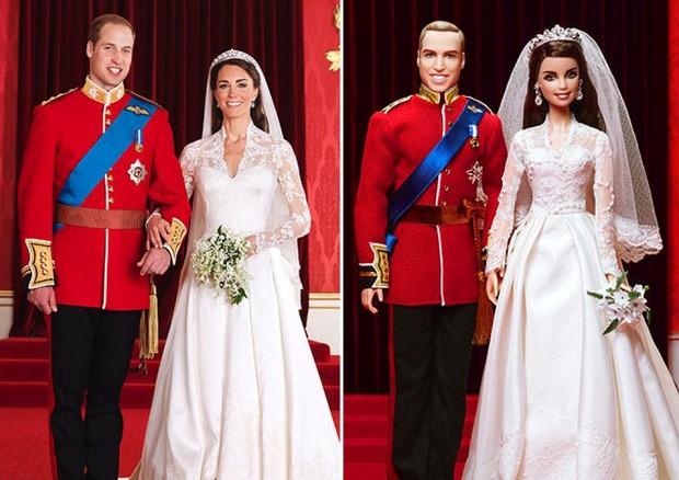 Kate e William = Barbie e Ken (Foto: reprodução)