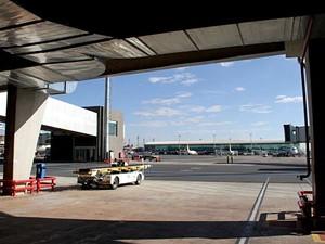 Espaço dentro do Aerporto JK, em Brasília (Foto: Vianey Bentes/TV Globo)