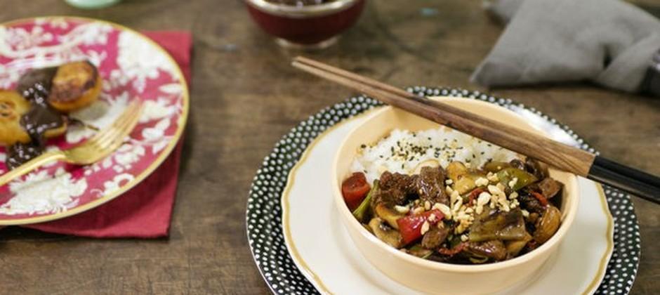 Cozinha Prática com Rita Lobo, Picadinho oriental com arroz japonês moti