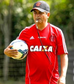 Ney Franco no treino do Flamengo (Foto: Gilvan de Souza / FlaImagem)