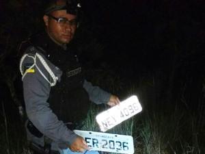 Tenente Alves Neto do BPRE, placas, norte-sul, macapá, amapá (Foto: divulgação/BPRE)
