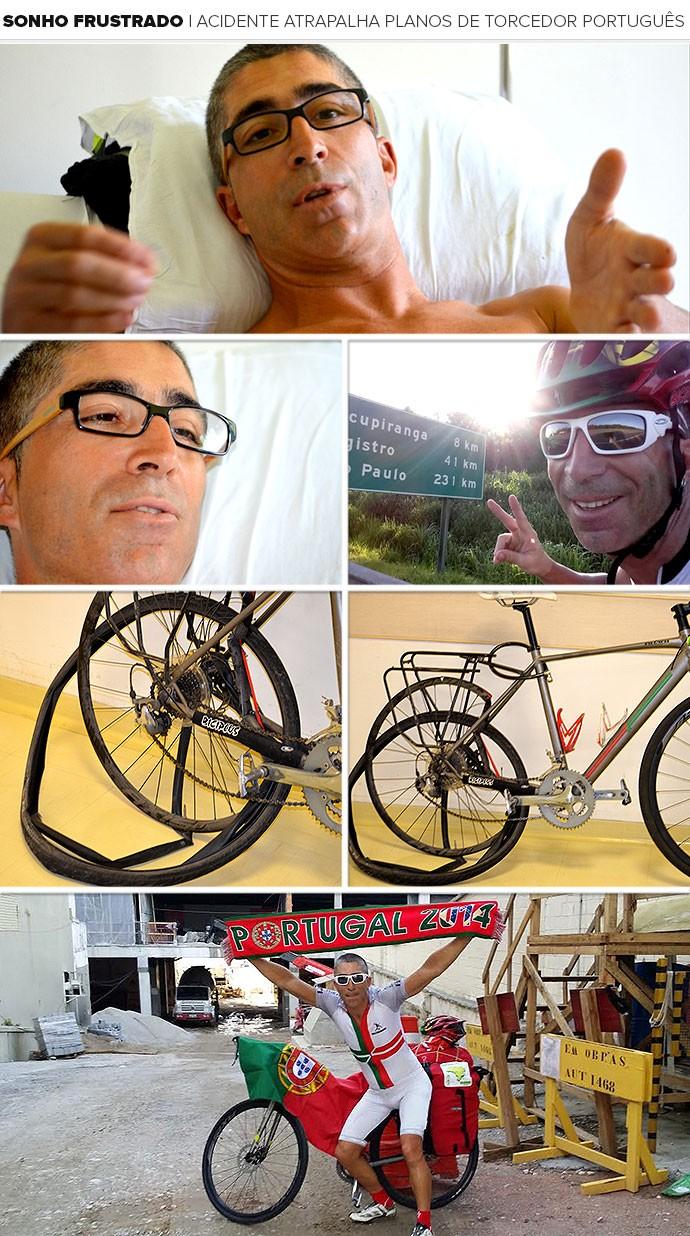 Mosaico Jorge Franco torcedor bicicleta (Foto: Editoria de Arte)