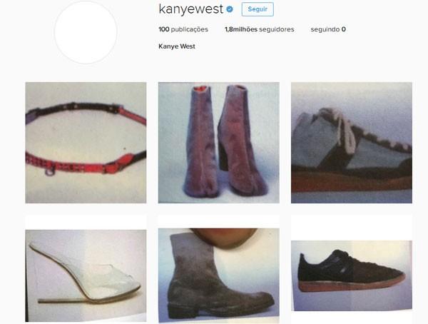 Kanye West fez 99 posts em um dia em seu Instagram (Foto: Reprodução)