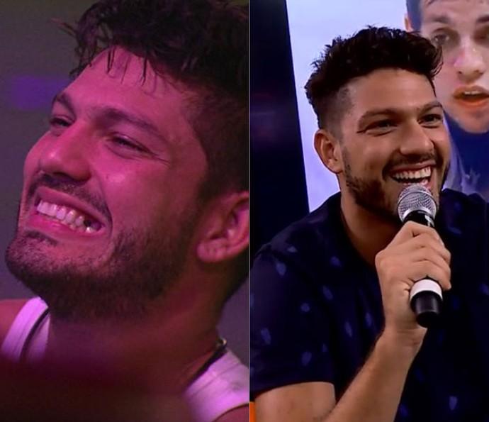 Luiz felipe mostra novo sorriso (Foto: TV Globo/Gshow)