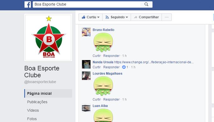 Uma petição foi criada contra a contratação do jogador pelo Boa Esporte. E  nas páginas oficiais do clube em redes sociais 714b22fdf0149