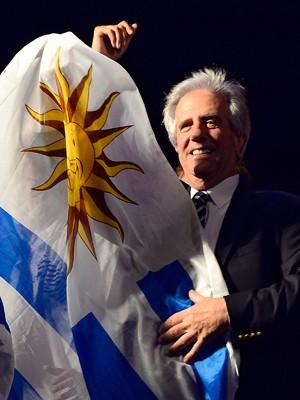 Tabaré Vázquez é eleito presidente do Uruguai (Foto: AFP Photo/Pablo Porciuncula )