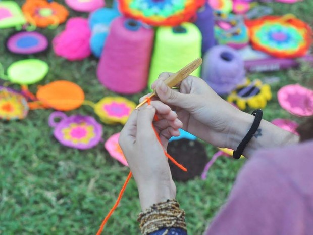 O crochê surgiu ainda na pré-história e há várias versões para sua origem  (Foto: Janaína Leocadio/Arquivo Pessoal)