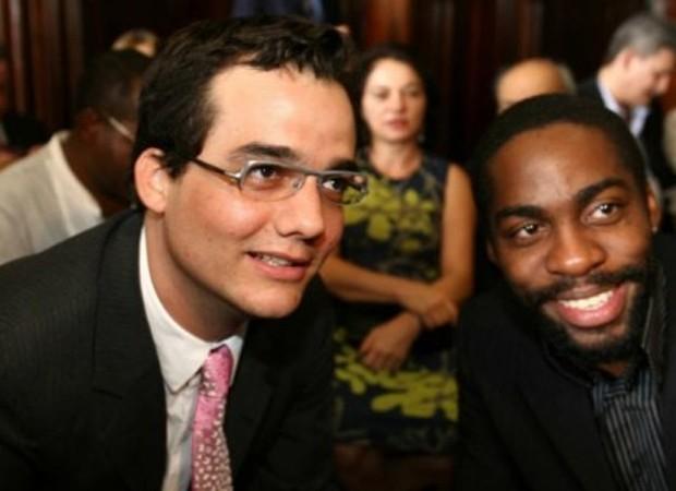 Wagner Moura e Lázaro Ramos (Foto: Reprodução/Instagram)