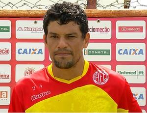 Edson Rocha, zagueiro do América-RN (Foto: Reprodução/Inter TV Cabugi)