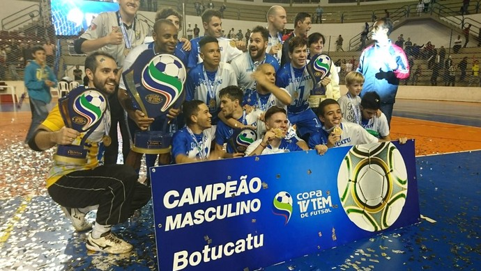 Botucatu, campeão da Copa TV TEM de Futsal 2017 (Foto: Sérgio Pais)