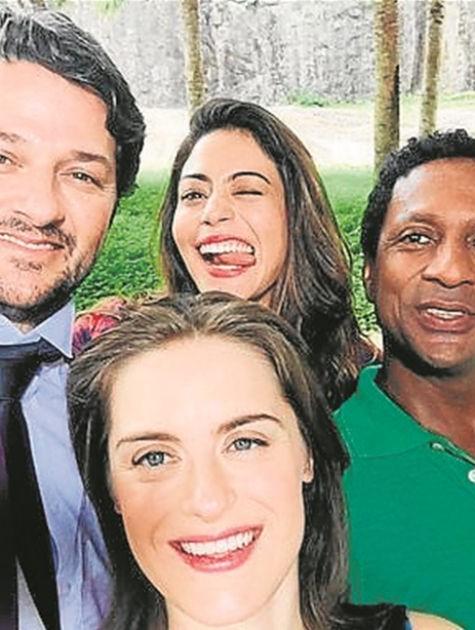 Marcelo Serrado, Carol Castro, Alessandra Maestrini e Luís Miranda (Foto: Arquivo pessoal)