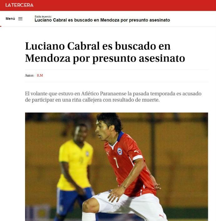 Luciano Cabral Atlético-PR (Foto: Reprodução)