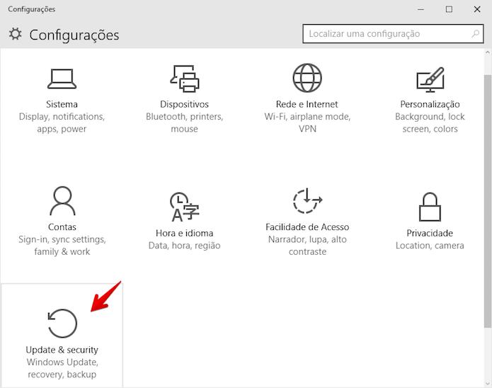 Abra o Windows Update (Foto: Reprodução/Helito Bijora)