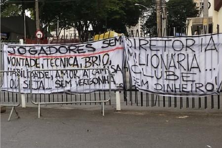 protesto torcida corinthians (Foto: Silvio Junior)