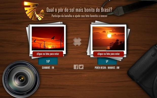 Participe da batalha e ajude sua foto favorita  (Foto: Reprodução/ Fantástico)