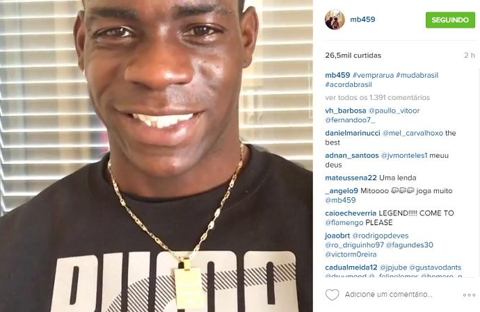 """BLOG: Balotelli manda mensagem em português pedindo mudanças: """"Acorda, Brasil"""""""