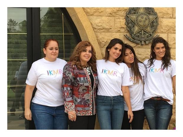 Daniele Suzuki, Priscila Fantin e Flavia Alessandra são Recebidas pela Cônsul honoraria Siham Harati (Foto: Instagram / Reprodução)