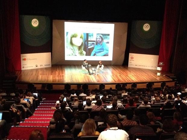 Palestra da estudante catarinense Isadora Faber em São Paulo  (Foto: Ana Carolina Moreno/G1)