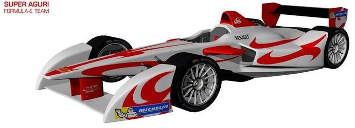 Carro da Super Aguri na Fórmula E (Foto: Divulgação)