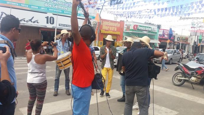 Bastidores do 'Aprovado' em Cruz das Almas (Foto: TV Bahia)