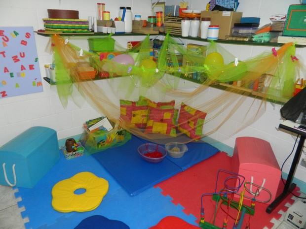Sala de Recursos Multifuncionais em escola do Guarujá (Foto: Divulgação/Prefeitura de Guarujá)