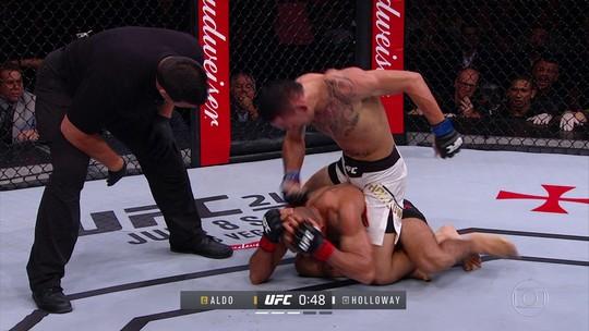 Holloway cumpre promessa, bate Aldo e assume o reinado dos penas no UFC