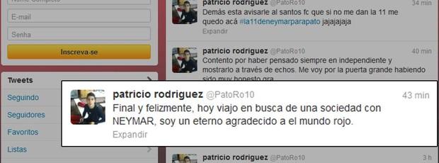 Patricio Rodriguez fala de acerto com Santos (Foto: Reprodução / Twitter)