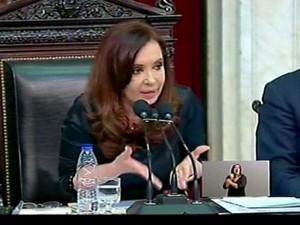Cristina Kirchner (Foto: Globo News)