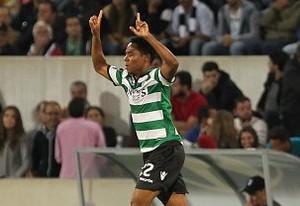 Elias comemora gol do Sporting (Foto: Reprodução de Twitter)
