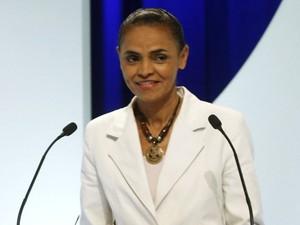 Marina Silva no segundo debate entre candidatos a presidente da campanha eleitoral (Foto: Paulo Whitaker/Reuters)