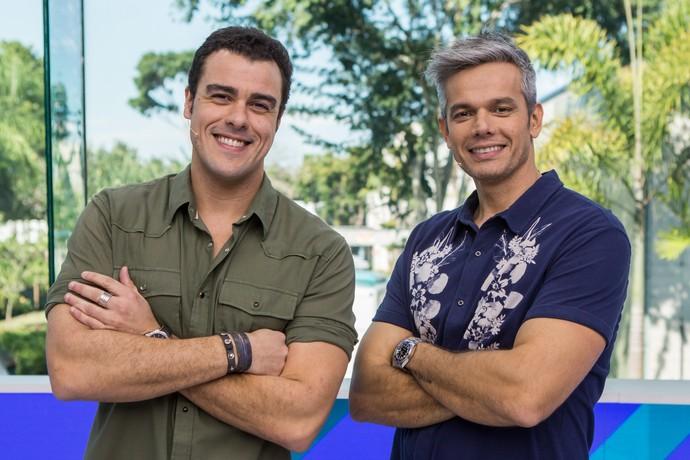 Joaquim Lopes e Otaviano Costa, no 'Vídeo Show' (Foto: Artur Meninea/Gshow)