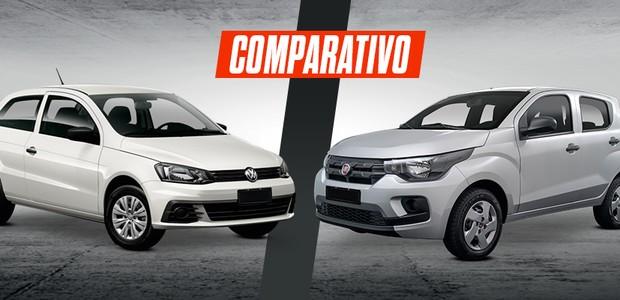 Comparativo: Fiat Mobi Easy On X Volkswagen Gol 2 portas (Foto: Autoesporte)
