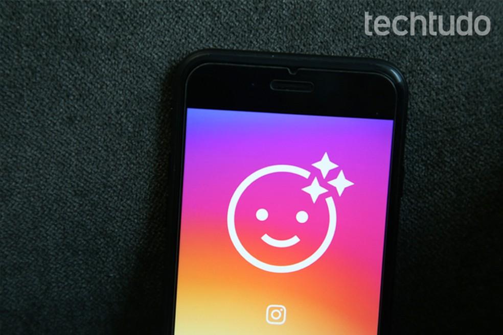 Novidade no Instagram deixa você colocar máscaras tipo as do Snapchat (Foto: Carolina Ochsendorf/TechTudo)