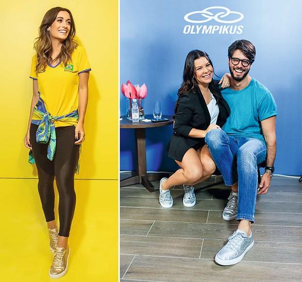 Silvia Braz (à esq.); Fernanda Souza e Kadu Dantas (à dir.) (Foto: .)